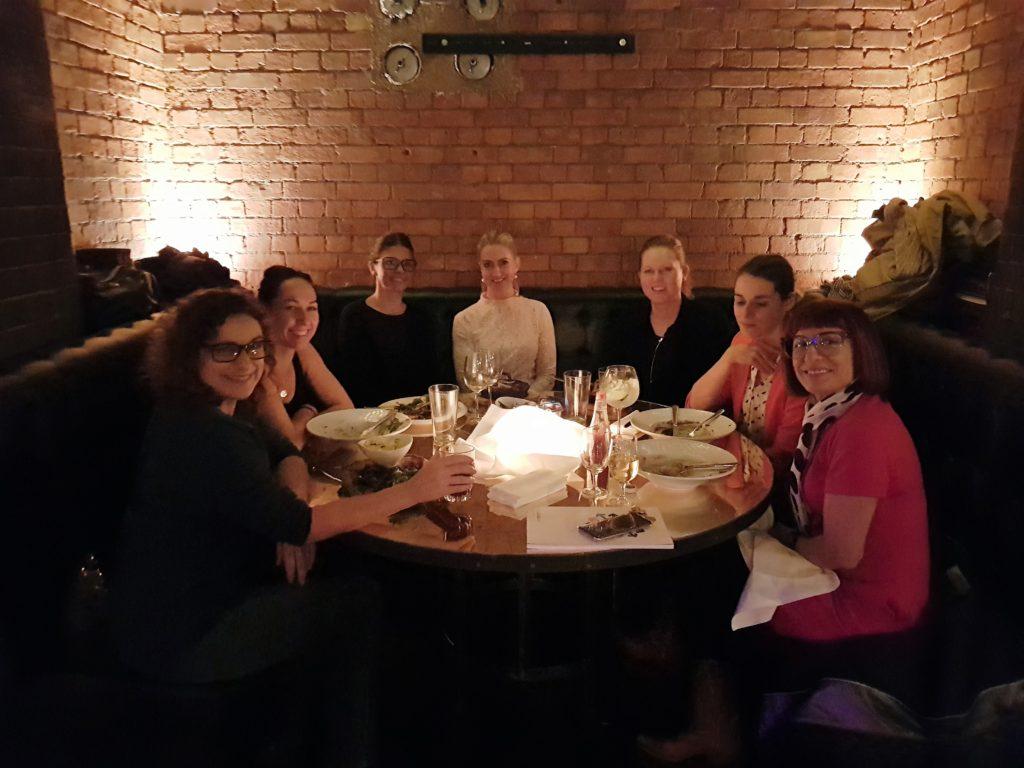 dinner in bar